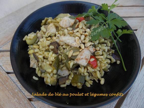 Salade de blé au poulet et légumes confits DSCN5109