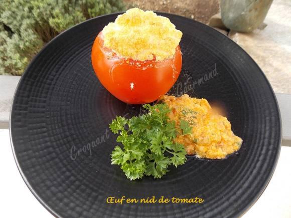 Œuf en nid de tomate DSCN0329