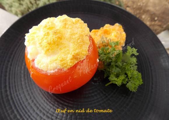 Œuf en nid de tomate DSCN0330