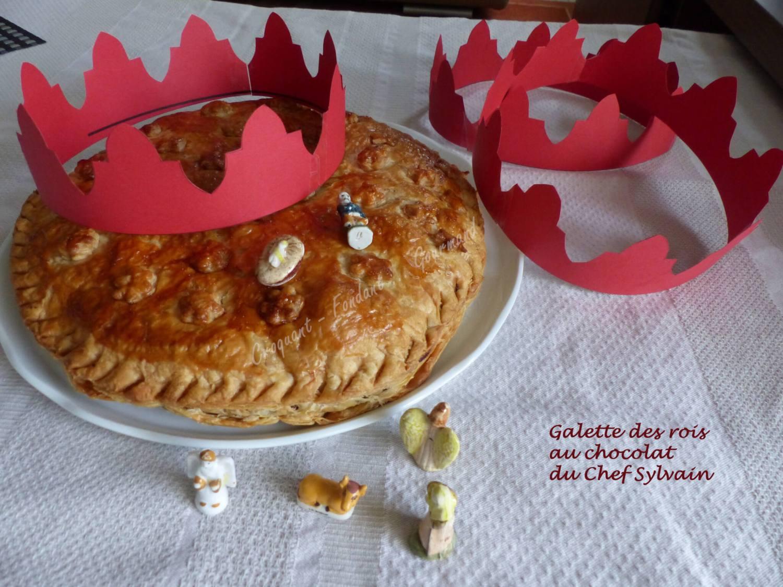 Galette des rois au chocolat du Chef Sylvain P1000667