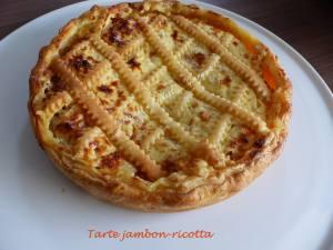 Tarte jambon-ricotta P1010093