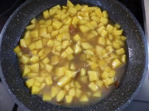 Saumon à l'aigre-douce, mangue et sauce curcuma P1020110