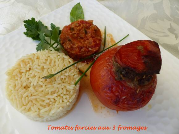 Tomates farcies aux 3 fromages P1030964
