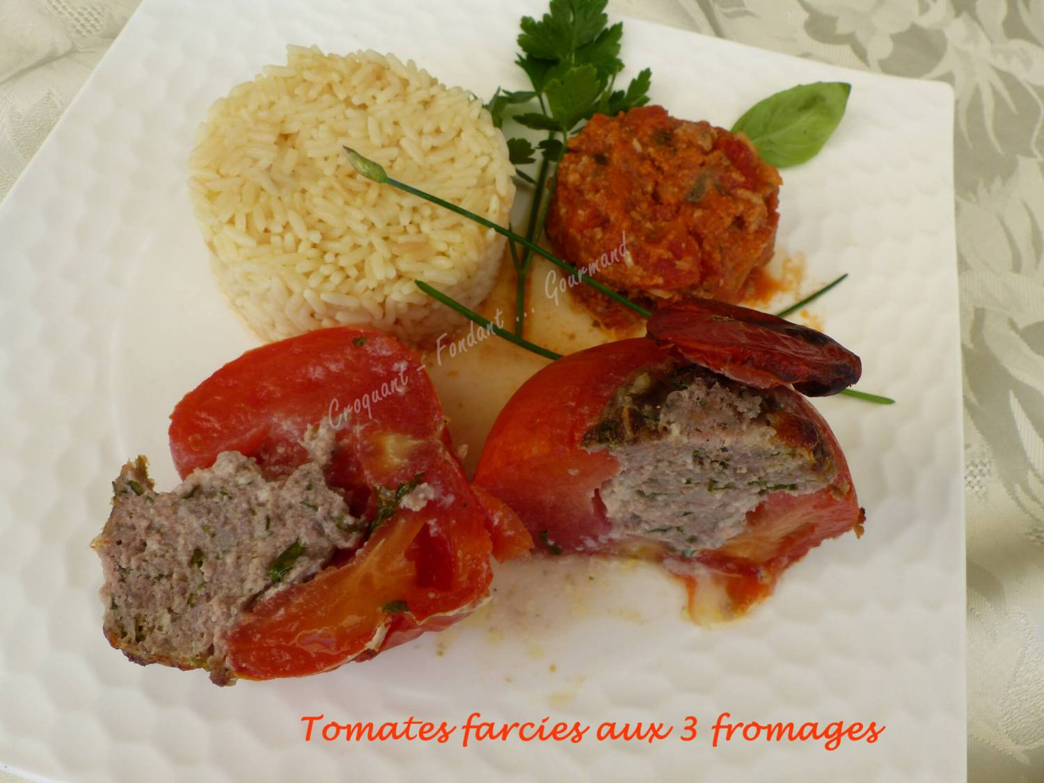 Tomates farcies aux 3 fromages P1030970