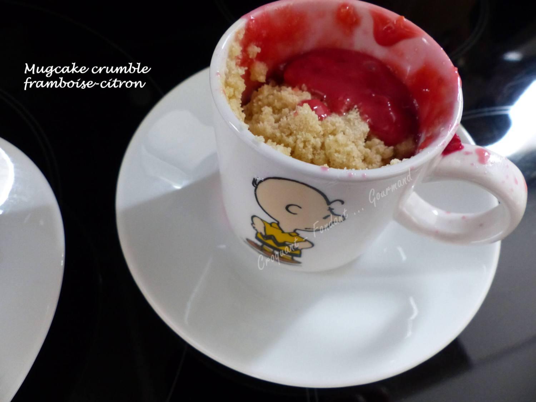 Mugcake crumble framboise-citron P1040078