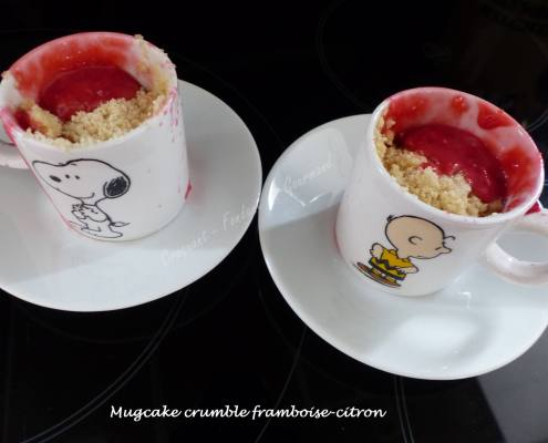 Mugcake crumble framboise-citron P1040079
