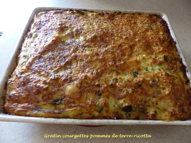 Gratin Courgettes Pommes De Terre Ricotta Croquant Fondant Gourmand
