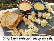 Chou-fleur croquant sauce anchois Index DSCN1316