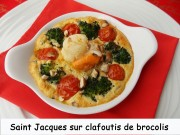 Saint Jacques sur clafoutis de brocolis Index 042
