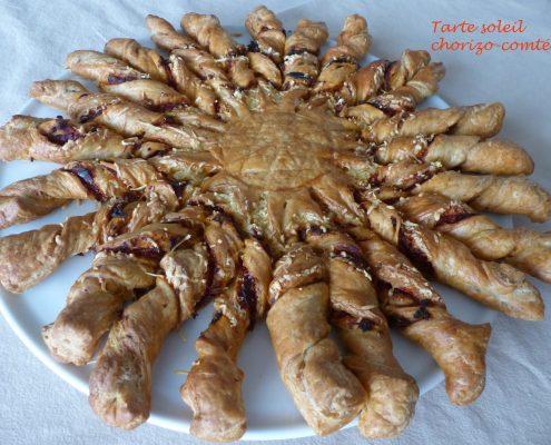 Tarte soleil chorizo-comté P1080117 R