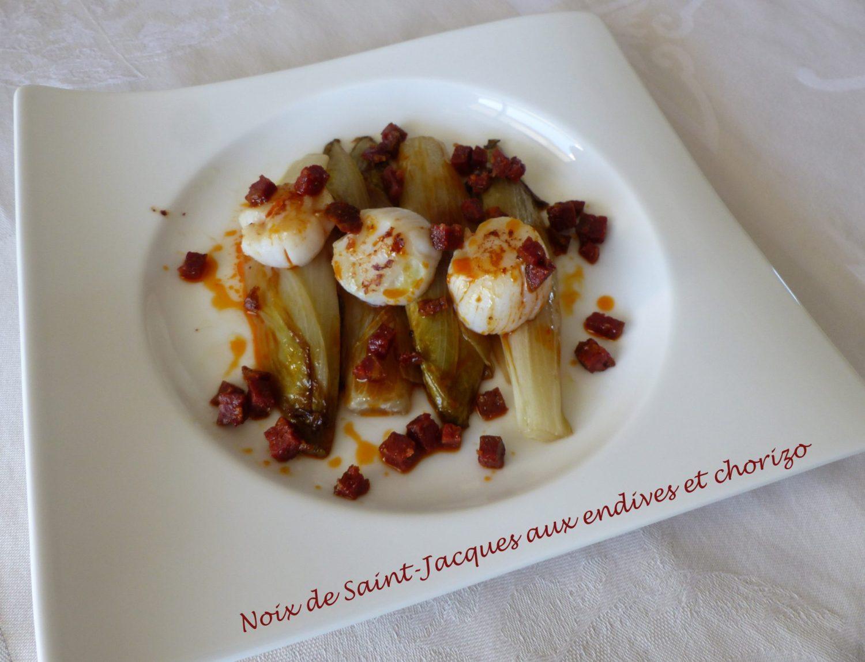 Noix de Saint-Jacques aux endives et chorizo P1080578 R