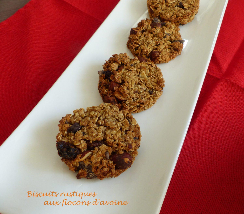 Biscuits rustiques aux flocons d'avoine P1080589 R