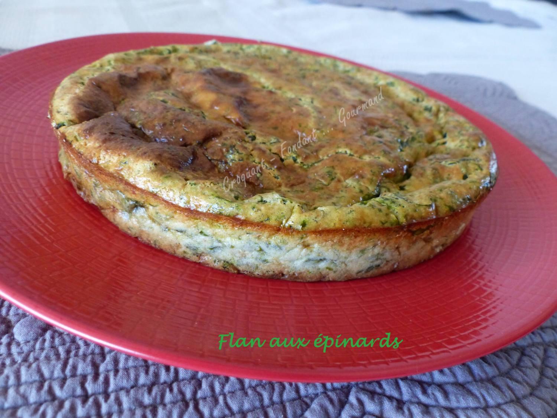 Flan aux épinards P1030902