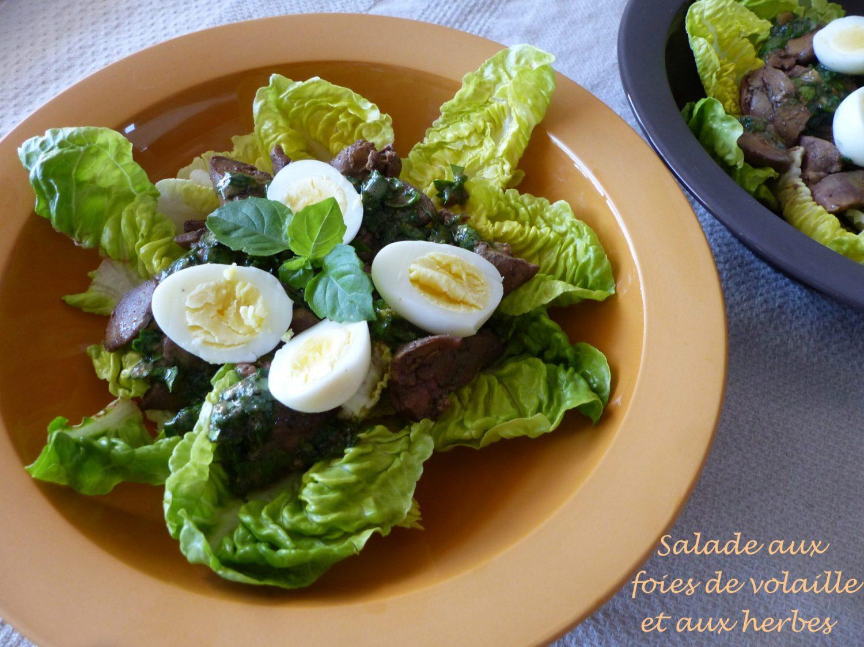 Salade aux foies de volaille et aux herbes P1110253 R