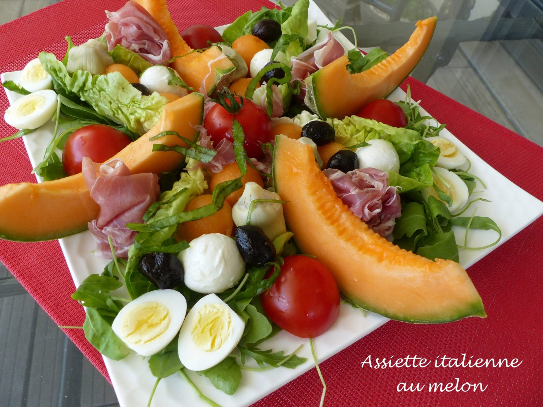 Assiette italienne au melon P1110761 R