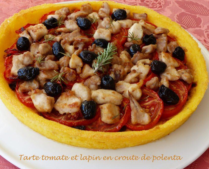 Tarte tomate et lapin en croute de polenta P1120458 R