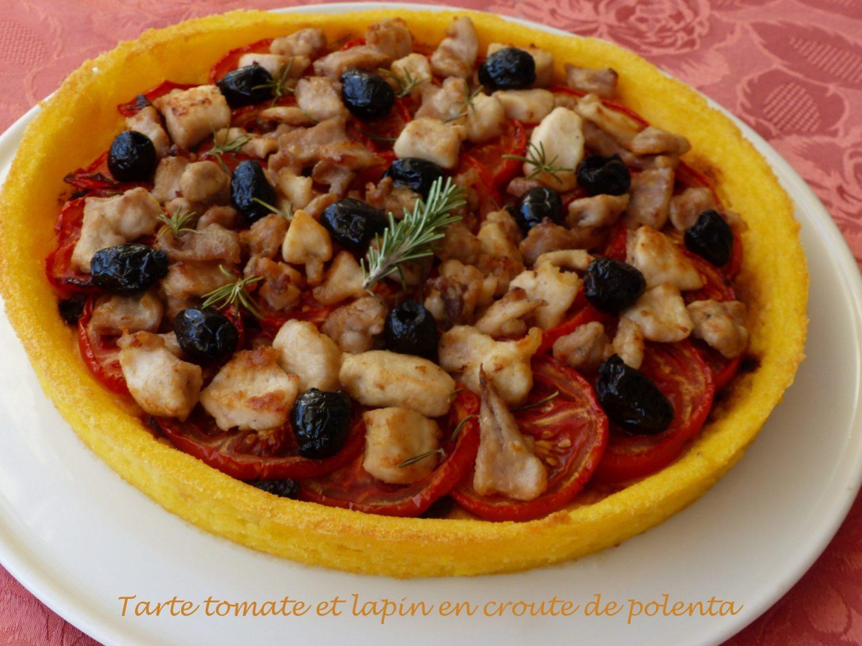 Tarte tomate et lapin en croute de polenta P1120462 R