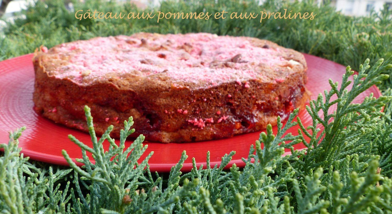 Gâteau aux pommes et aux pralines P1130953 R