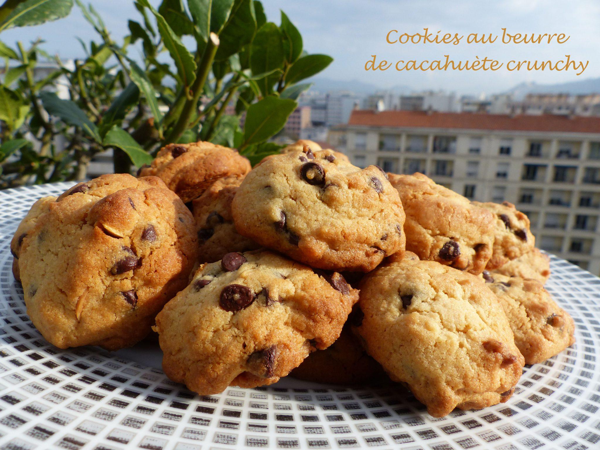 cookies au beurre de cacahu te crunchy recette autour d. Black Bedroom Furniture Sets. Home Design Ideas