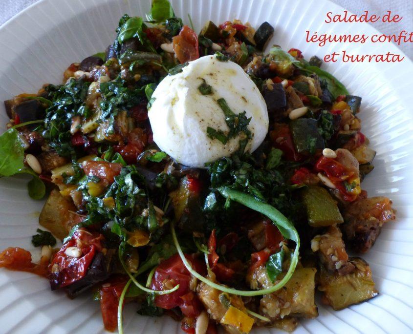 Salade de légumes confits et burrata P1110732 R