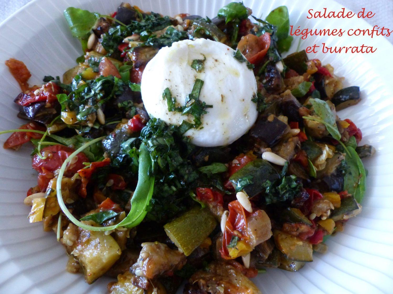 Salade de légumes confits et burrata P1110733 R