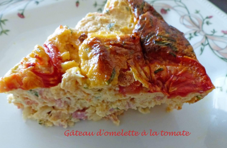 Gâteau d'omelette à la tomate P1180992 R
