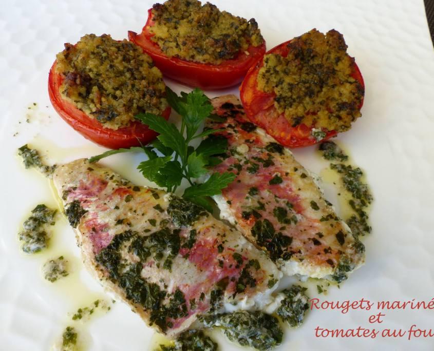 Rougets marinés et tomates au four P1180896 R