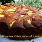 Moelleux aux pêches, chocolat & amandes P1190421 R