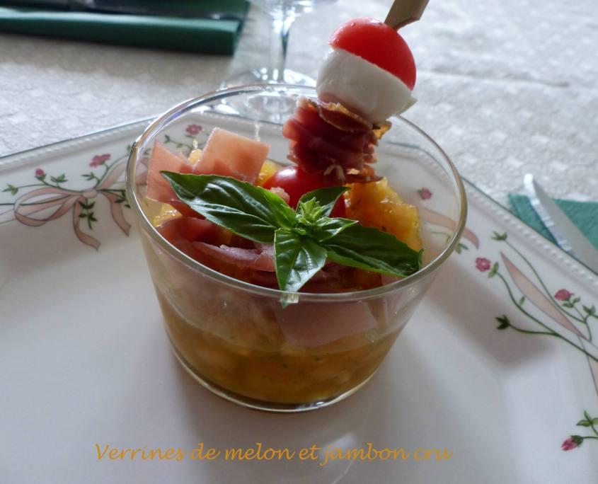 Verrines de melon et jambon cru P1200185 R