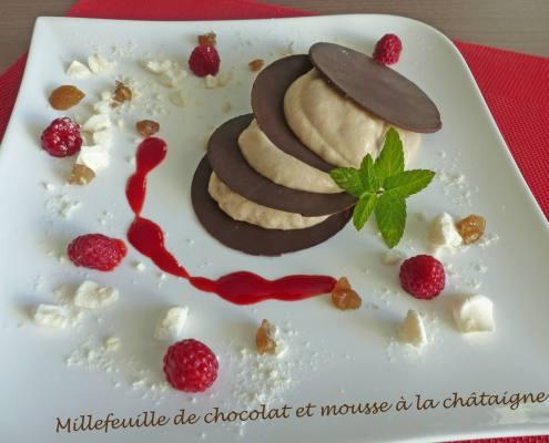 Millefeuille de chocolat et mousse à la châtaigne P1200902 R