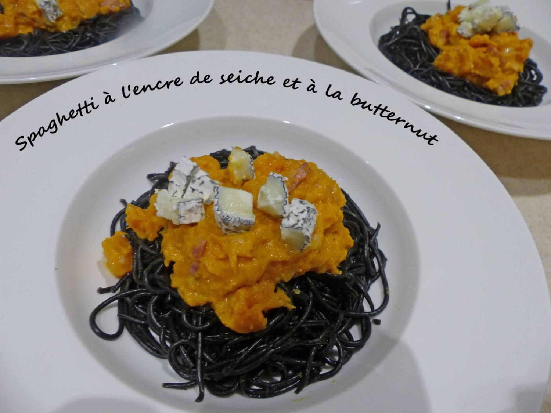 Spaghetti à l'encre de seiche et à la butternut P1220375 R