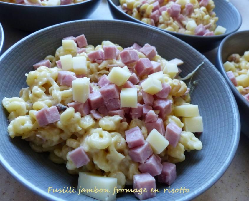 Fusilli jambon fromage en risotto P1230136 R