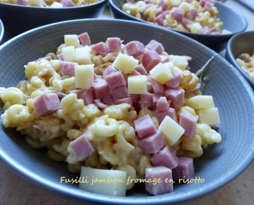 Fusilli jambon fromage en risotto P1230138 R