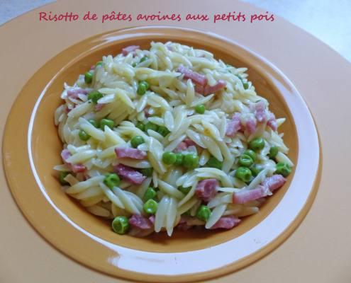 Risotto de pâtes avoines aux petits pois P1230228 R
