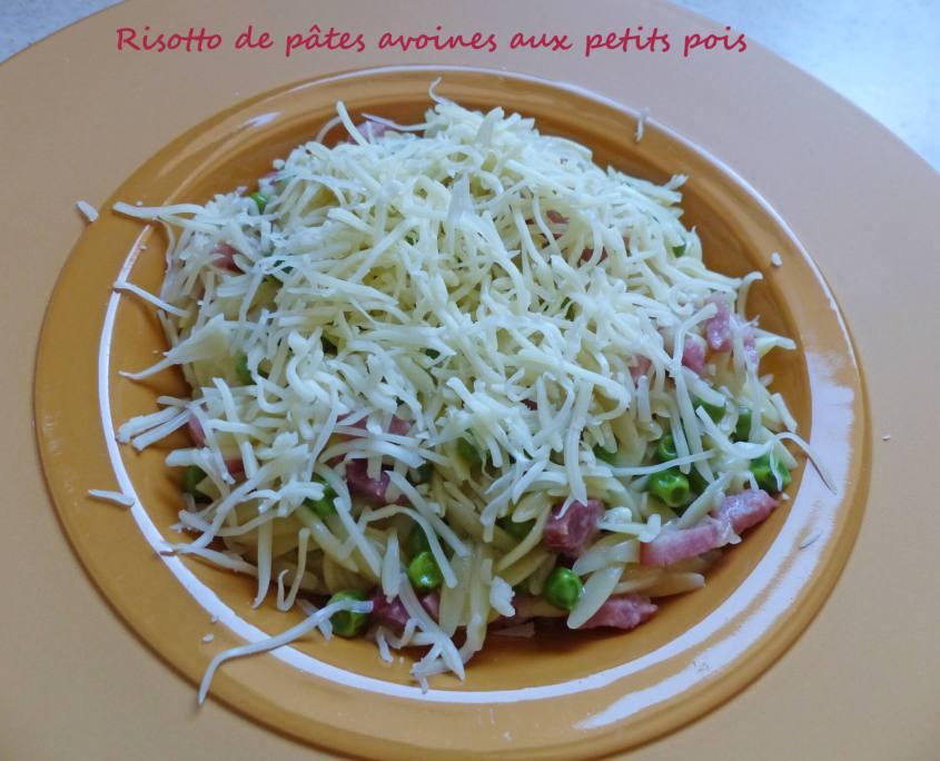 Risotto de pâtes avoines aux petits pois P1230229 R
