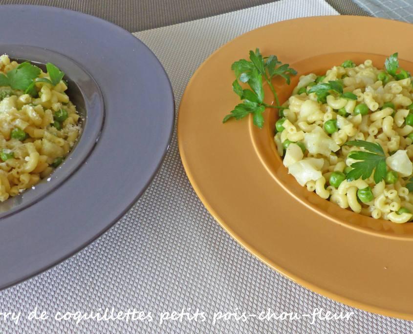 Curry de coquillettes petits pois-chou-fleur P1240655 R