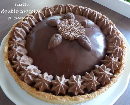 Tarte double chocolat et caramel P1170706 R