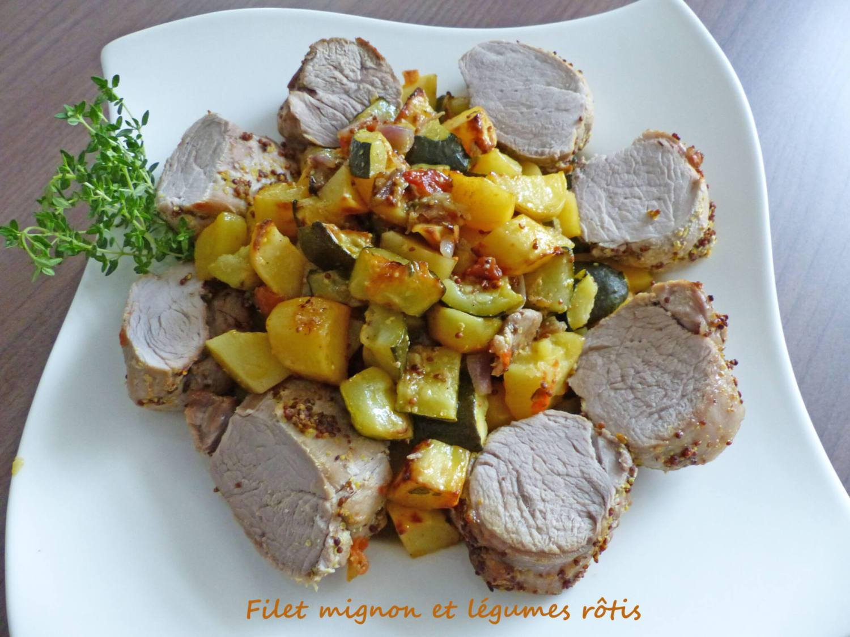 Filet mignon et légumes rôtis P1250608 R