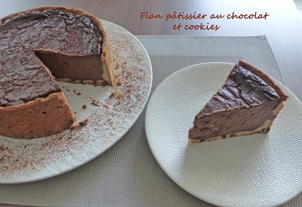 Flan pâtissier au chocolat et cookies P1270566 R (Copy)