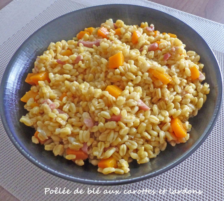 Poêlée de blé aux carottes et lardons P1270563 R