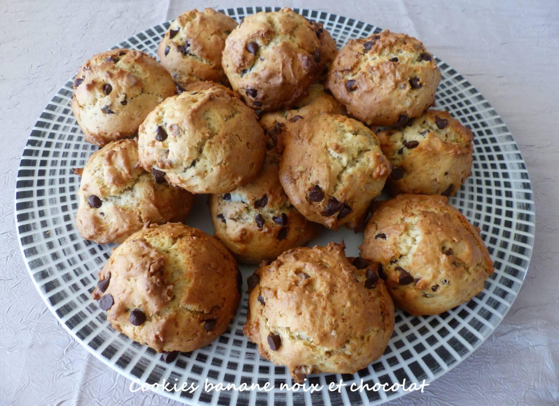 Cookies banane noix et chocolat P1280002 R