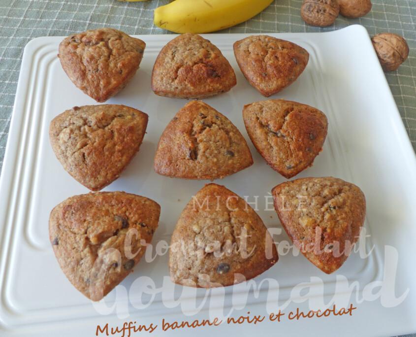 Muffins banane noix et chocolat P1270808 R