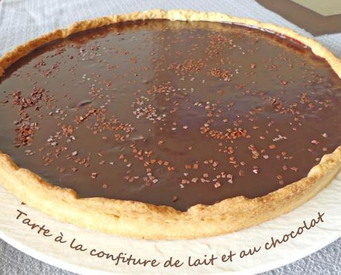 Tarte à la confiture de lait et au chocolat P1000507 R (Copy)