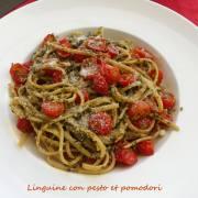 Linguine con pesto et pomodori P1020645 R