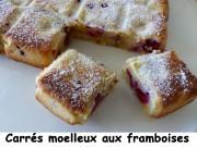 Carrés moelleux aux framboises Index P1040450