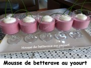 Mousse de betterave au yaourt Index P1020652