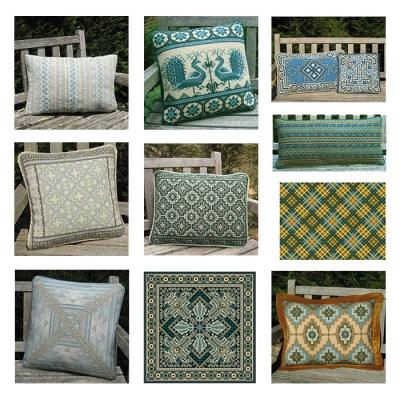 sample images of ocean huewed pillows