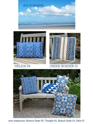 summer blues for stitching
