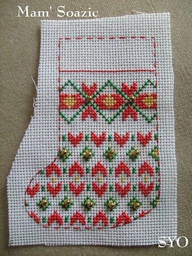 Needlepoint Christmas Stocking Pattern