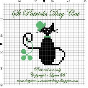St Patricks Day Cross stitch pattern from Lynn B at happinessiscrossstitching.blogspot.com